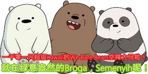 OMG!一千零一只超級Kawaii的We Bare Bears空降大馬啦!就在綠意盎然的Broga, ...